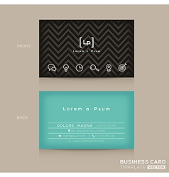 Modern trendy business card design template vector