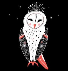Graphic owl vector