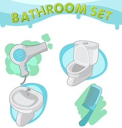 Bathroom symbol icon set e vector