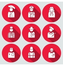 People profession avatar icon set judge artist vector