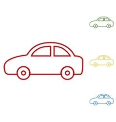 Car  set of line icons vector