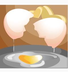 Omelette vector image