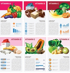 Health And Medical Vitamin Chart Diagram vector image