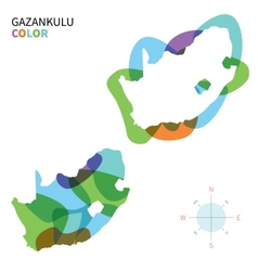 Abstract color map of Gazankulu vector image vector image