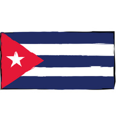 abstract cuba flag or banner vector image vector image