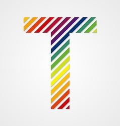 Alphabet Letter T vector image