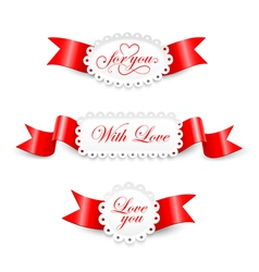 Elements to Valentines Day vector image vector image