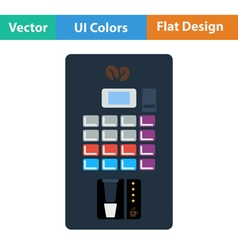 Flat design icon of Coffee selling machine vector image