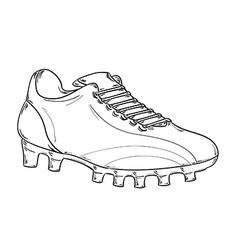 football boots sketch vector image vector image