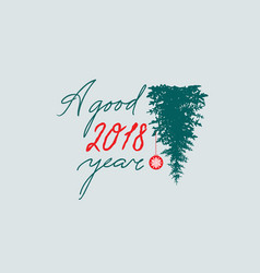 Happy new year sign handwritten lettering a good vector