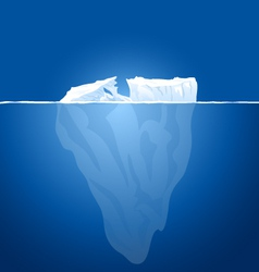 Ice berg vector