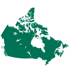 Map of canada vector
