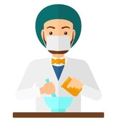 Pharmacist preparing medicine vector image