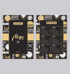 restaurant brochure vector image vector image