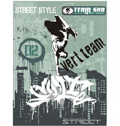 streetskater vector image vector image