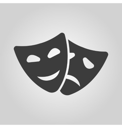 The theater and mask icon Drama comedy tragedy vector image vector image