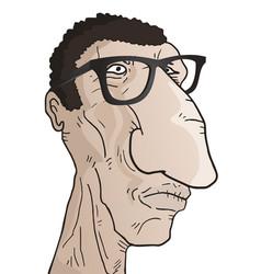 ugly man vector image vector image