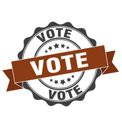 Vote stamp sign seal vector