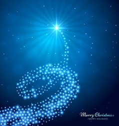 Creative glowing christmas tree vector