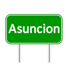 Asuncion road sign vector