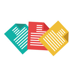Documents paper isolated icon vector