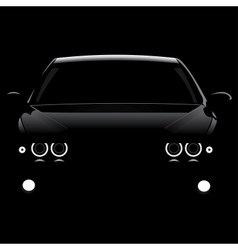 Silhouette cars vector