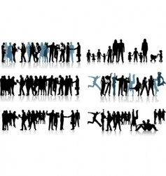 huge crowd vector image