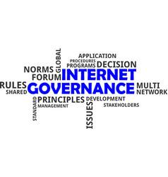 Word cloud - internet governance vector