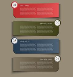 Information part banner design element vector image