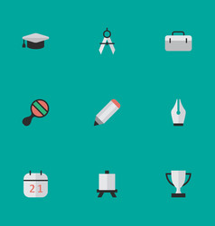 Set of simple knowledge icons elements nib vector
