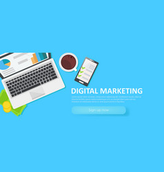 digital merketing banner vector image