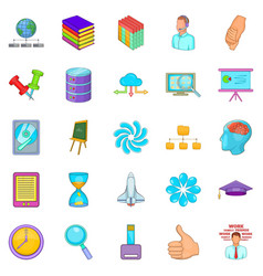 Department icons set cartoon style vector