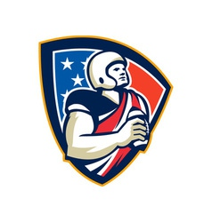 American football quarterback shield vector