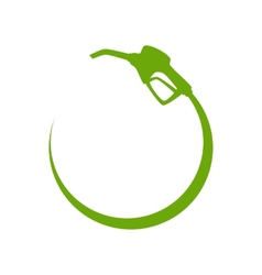 Green gas pump icon vector