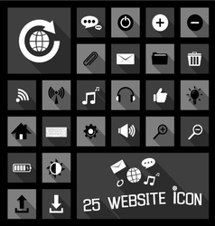Website icons concepts vector