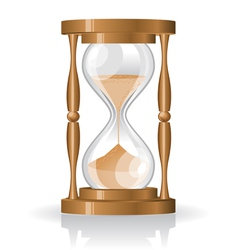 Glass sand clock vector
