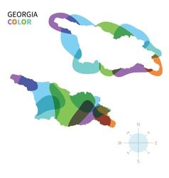 Abstract color map of georgia vector