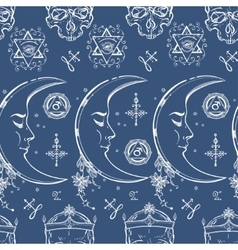 Alchemy and magic seamless pattern vector image vector image