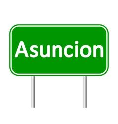 Asuncion road sign vector