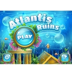 Atlantis ruins - boot screen vector