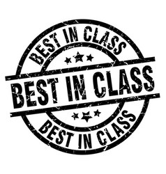 Best in class round grunge black stamp vector