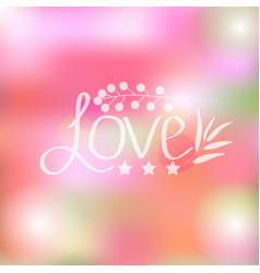 bright romantic card vector image vector image