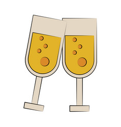 champagne glasses icon image vector image
