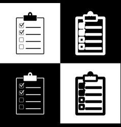 Checklist sign black and vector