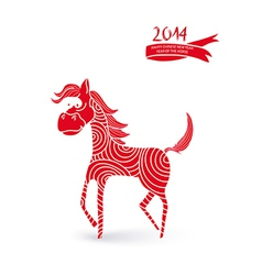 Chinese new year cartoon horse vector