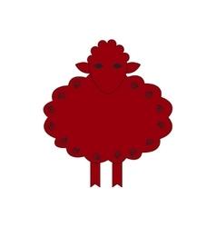 Chinese zodiac symbol red sheep vector