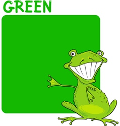 Color Green and Frog Cartoon vector image vector image