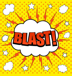 comic blast wording background vector image