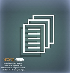 Copy file duplicate document icon on the vector