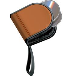 disc wallet vector image vector image